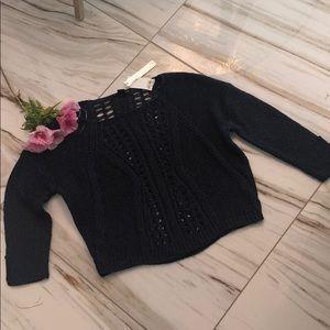 AQUA crochet sweater